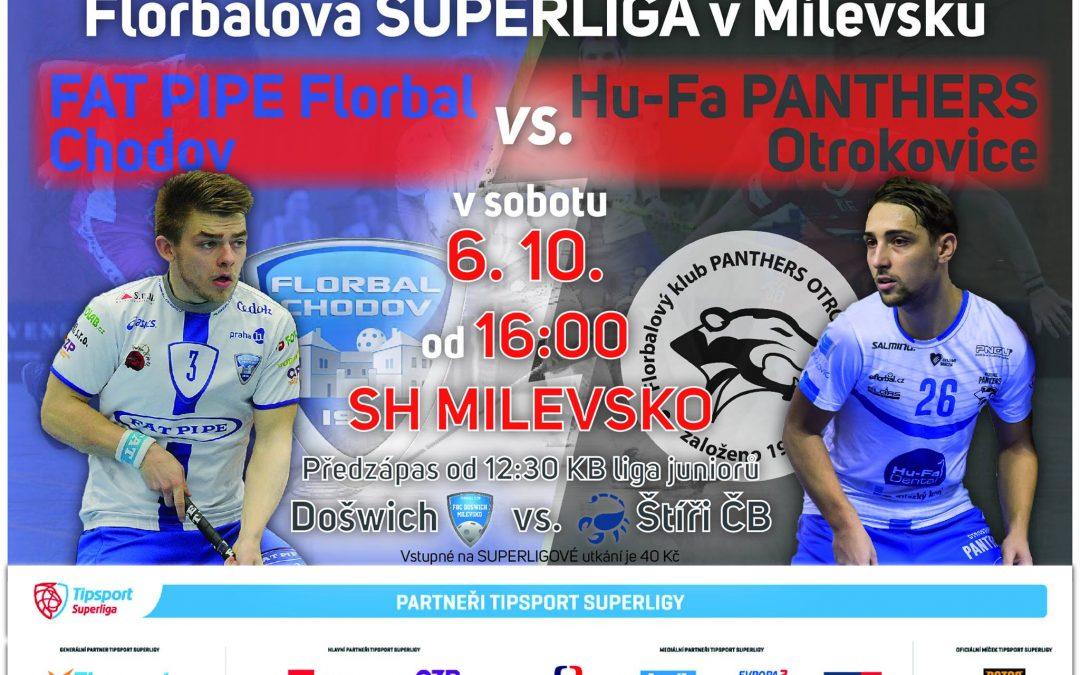 Florbalová Tipsport superliga v Milevsku!