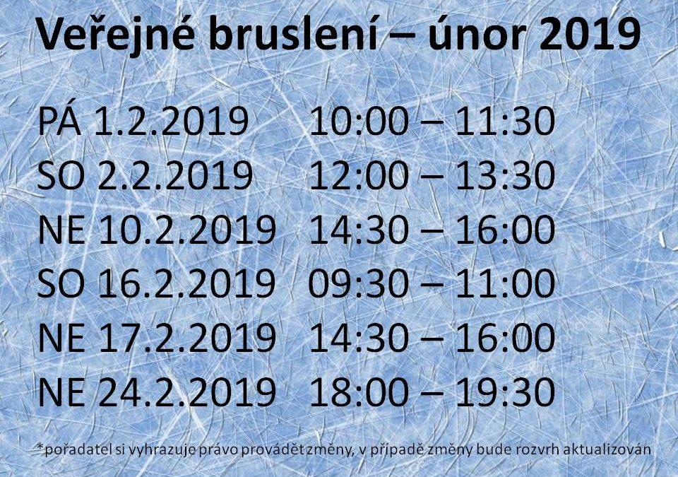 Rozpis veřejného bruslení v únoru 2019