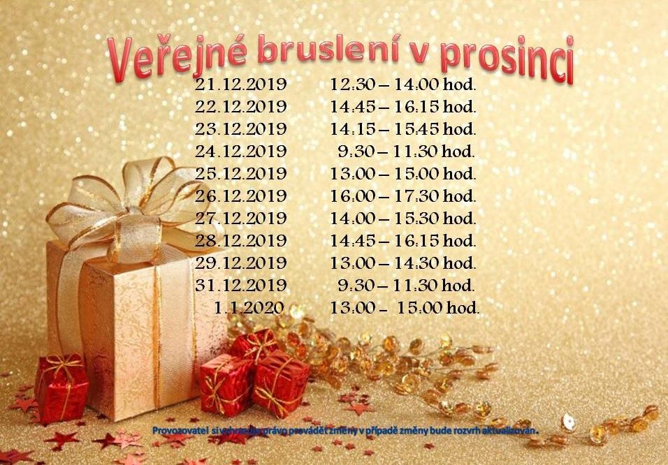 Veřejné bruslení o Vánocích